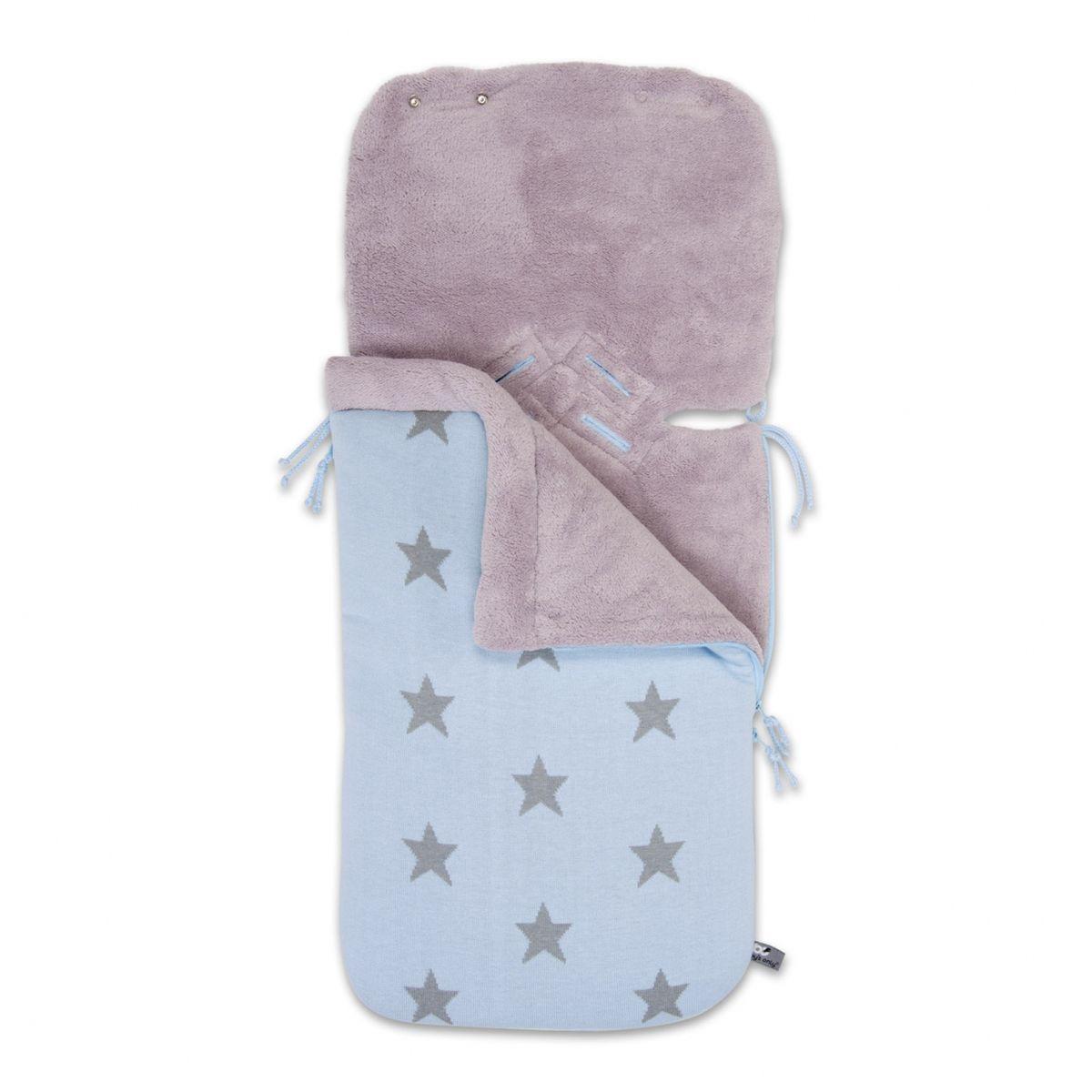 Baby Blue/Light Grey - Lämpöpussi turvakaukaloon - 333500210 - 8