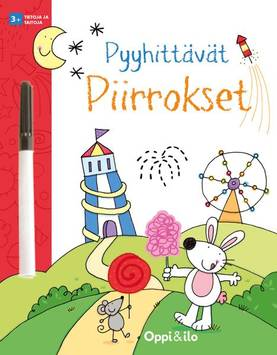 Oppi ja ilo Pyyhittävät Piirrokset - Kirjat, vihkot ja kirjaimet - 9789526312460 - 1