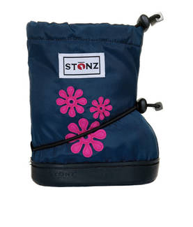 Stonz Booties töppöset - 60's Flowers Navy Blue Plus - Töppöset - 5122001210 - 1