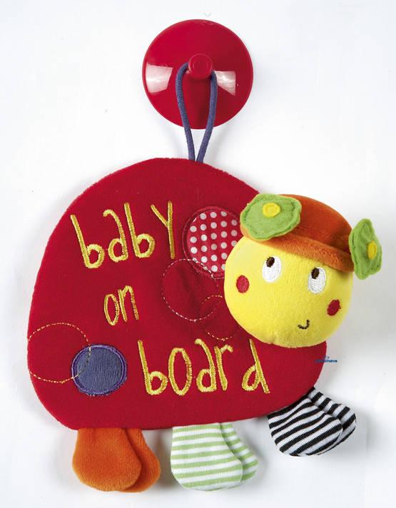 Mamas&Papas Baby On Board leppäkerttu - Baby on Board -kyltit - 5023133754270 - 1