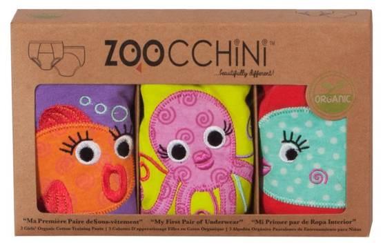 Zoocchini kuivaksiopetteluhousut - Ocean Friends, tytöt - Koko 2-3 -v. - 36595410100 - 1