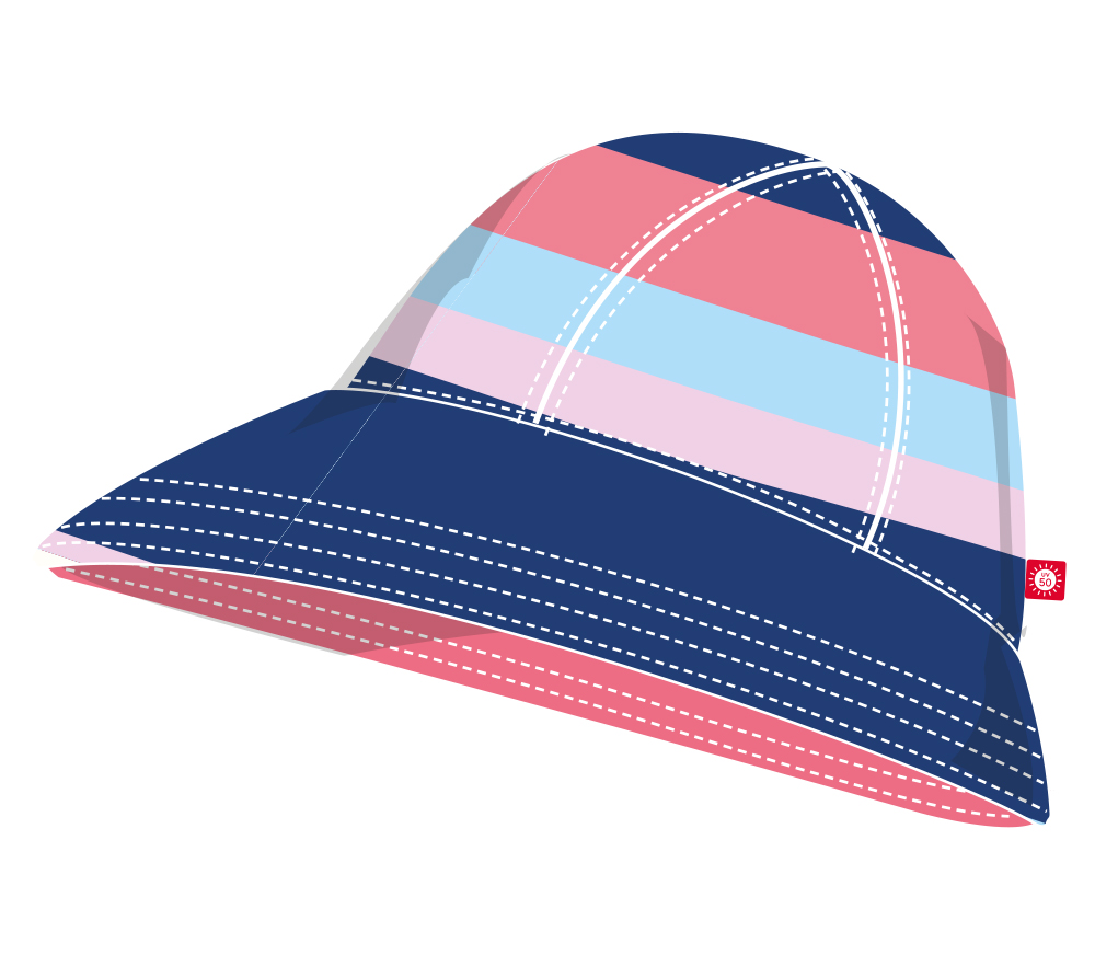 Reima Viiri käännettävä UV-hattu - Strawberry Red/Rose - UV-vaatteet - 211548421101 - 5