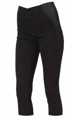 Mamalicious MlCool Ida HW Black Capri Jeans housut - Housut ja haalarit - 62332011141 - 1