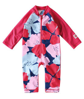 Reima SunProof Maracuya UV-uima-asu - Strawberry Red/Rose - UV-vaatteet - 33262201411