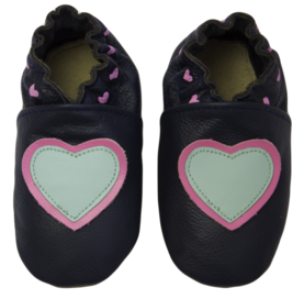 Rose et Chocolat ClassicZ nahkatossut - Little Hearts Navy - Tossut - 85411140001 - 1