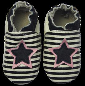 Rose et Chocolat ClassicZ nahkatossut - Star Stripe Black - Tossut - 3252014741