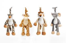 Vas: tiikeri, kirahvi, leijona, norsu - Soittorasiat - 332201201 - 1