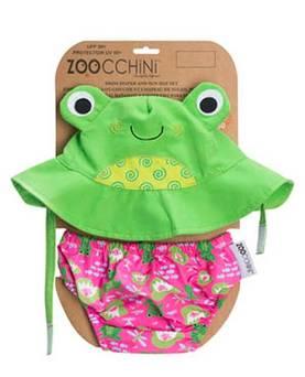 Zoocchini uimavaippa&aurinkohattu - sammakko - Uimavaipat ja uimavaippahousut - 6525500121 - 1