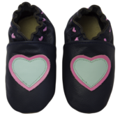 Rose et Chocolat ClassicZ nahkatossut - Little Hearts Navy - Tossut - 85411140001