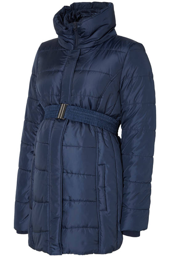 Mamalicious MlQuilty L/S Padded Jacket toppatakki odottajalle - Navy Blazer - Takit - 2154411201 - 1