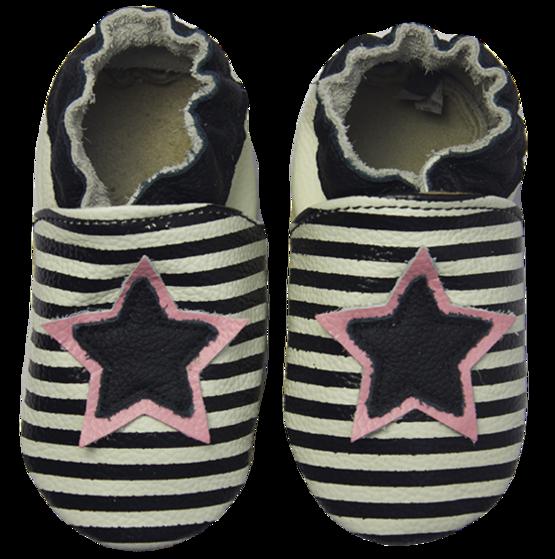 Rose et Chocolat ClassicZ nahkatossut - Star Stripe Black - Tossut - 3252014741 - 1