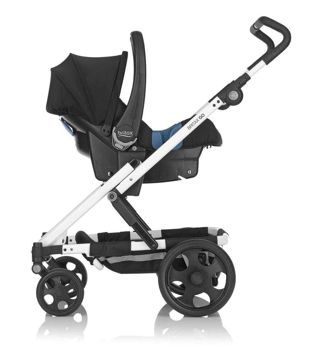 Baby Safe Plus kaukalo kiinnitettynä adaptereihin Britax Go rungossa - Adapterit turvakaukaloille - 4000984109672 - 9