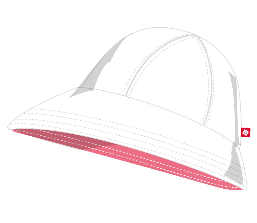 Reima Viiri käännettävä UV-hattu - White - UV-vaatteet - 2003625142 - 5