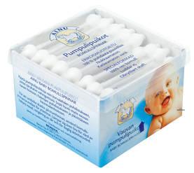 Ainu vauvan pumpulipuikot 64kpl - Vanupuikot ja vanutyynyt - 6414504268172 - 1