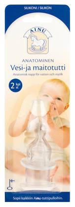 Ainu vesi-maito pullotutti anatominen - Tuttipäät, juomanokat ja korkit - 6434400025402 - 1