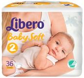 Libero vaippa Newborn 2, 3-6 kg 36 kpl - Vaipat ja uimavaipat - 7322540556322 - 2