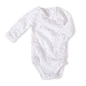 Aden+anais Muslin Long Sleeve Bodysuit kimono body - Lovely Mini Hearts - Bodyt - 6230059474 - 1