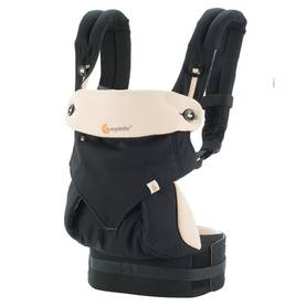 ErgoBaby 360 baby Carrier Black/camel - Kantoreput - 8451970438614 - 1