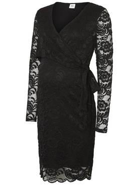 Mamalicious MlMivana L/S Woven Lace Wrap Short Dress odotusmekko - Mekot ja hameet - 6322001214 - 1