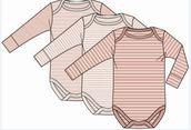 Minimize MmDust Girl Body L/S Basic 3 pack  body pitkillä hihoilla - Bodyt - 6254877874 - 1