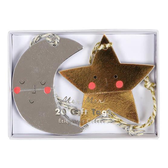 Meri Meri lahjapakettikortti 20kpl - Joulu - 636997233734 - 1