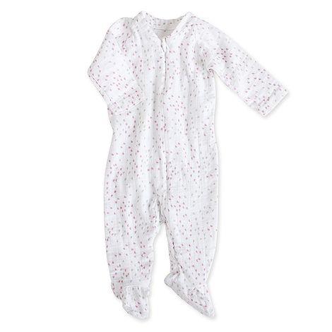 Aden+anais Muslin Long Sleeve One-piece potkuhousut - Lovely Mini Hearts - Potkuhousut - 5120321414 - 1