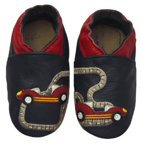 Rose et Chocolat ClassicZ nahkatossut - Little Racers Navy - Tossut - 6232514474 - 1