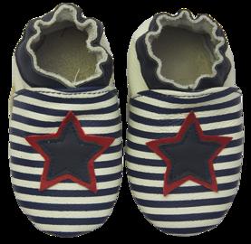 Rose et Chocolat ClassicZ nahkatossut - Star Stripe Navy - Tossut - 48456002015