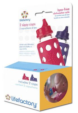 Lifefactory Sippy Cap vadelma&violetti - Tuttipäät, juomanokat ja korkit - 705105298436 - 1