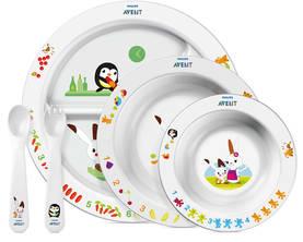 Philips Avent ruokailusetti 6 kk - Syvät lautaset - 8710103518327 - 3
