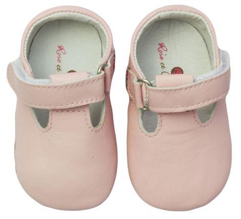 Rose et Chocolat MiniZ T-Strap tossut - Pink - Tossut - 6295568547 - 1