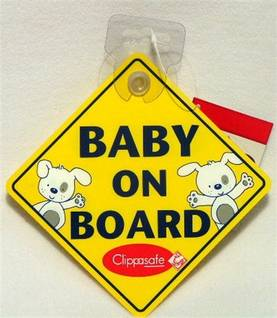 Clippasafe Baby on Board -merkki auttoon - Baby on Board -kyltit - 5015876020408 - 1